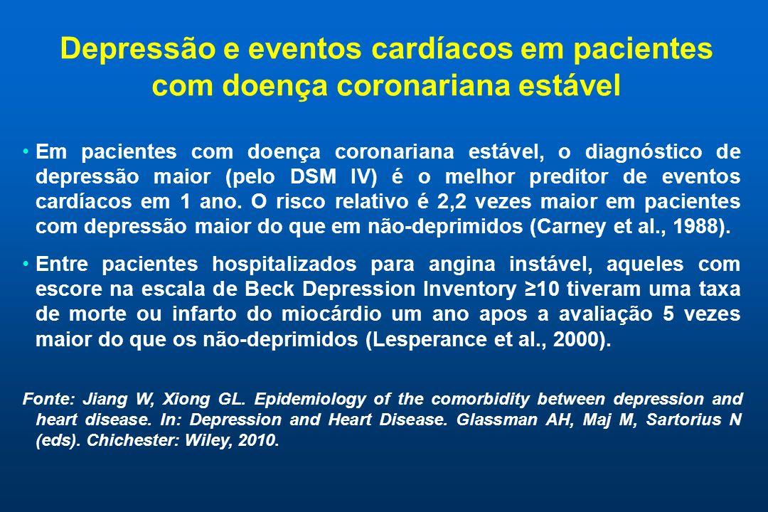 Depressão e eventos cardíacos em pacientes com doença coronariana estável
