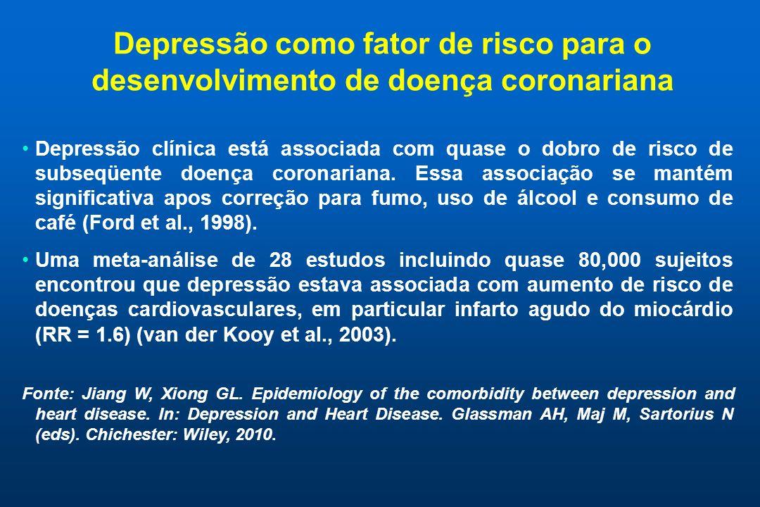 Depressão como fator de risco para o desenvolvimento de doença coronariana