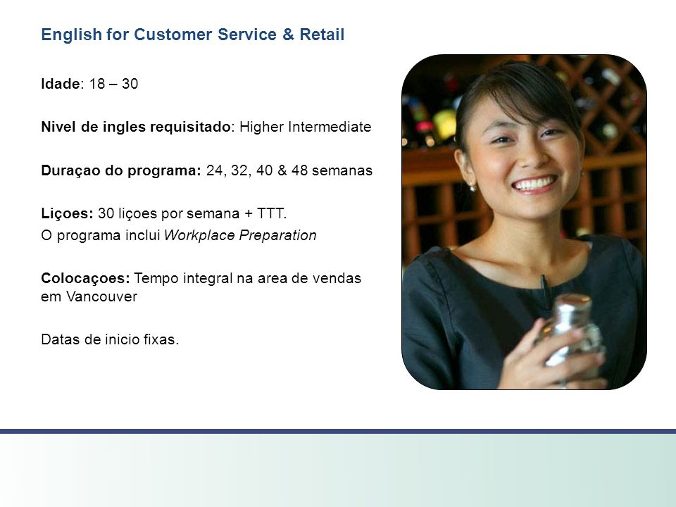 English for Customer Service & Retail