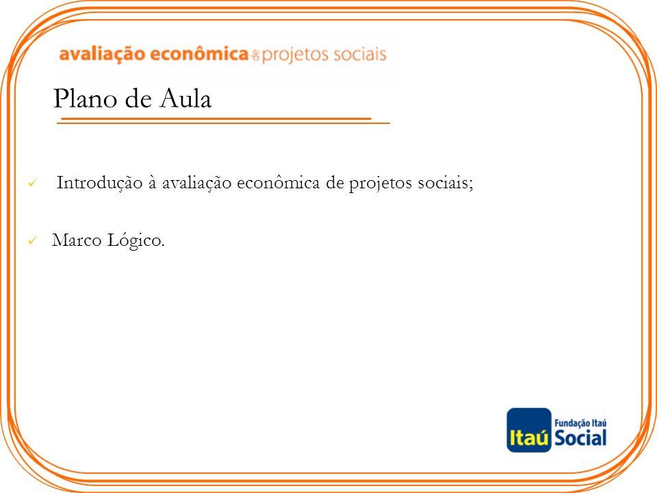 Plano de Aula Introdução à avaliação econômica de projetos sociais;