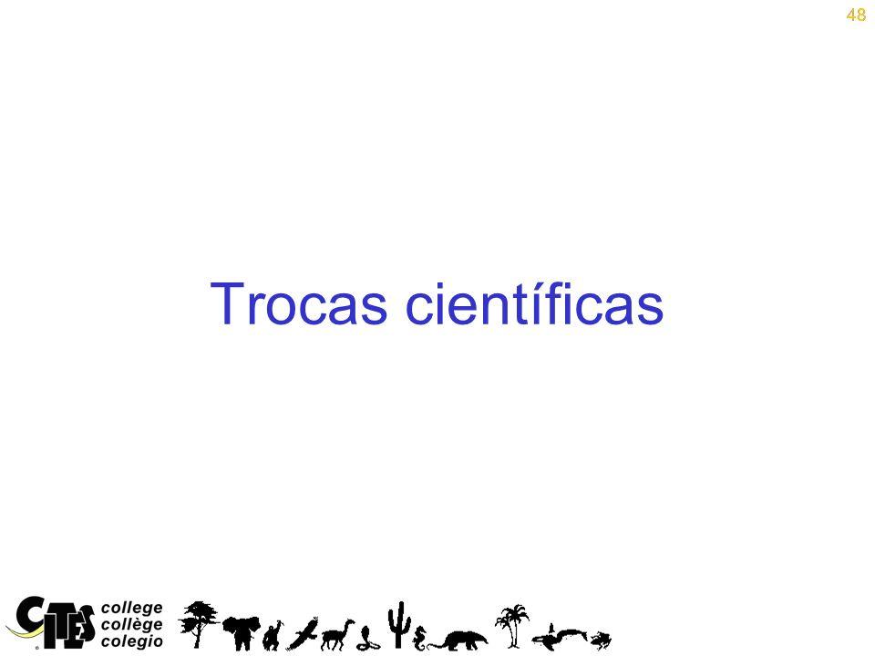 48 Trocas científicas