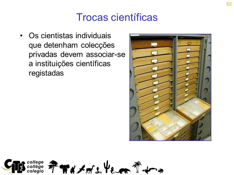52 Trocas científicas.