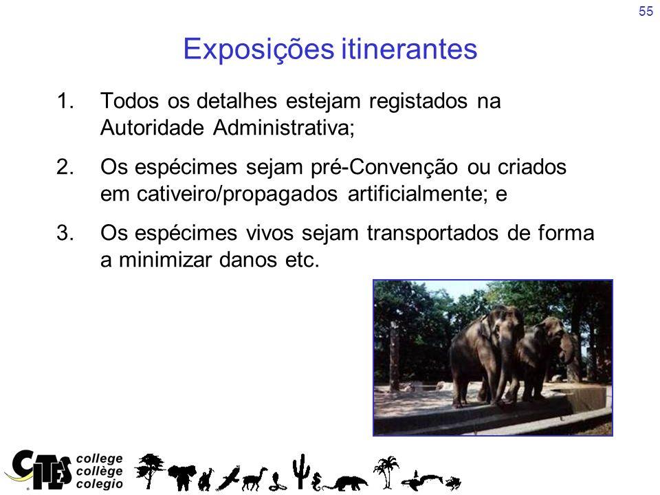 Exposições itinerantes