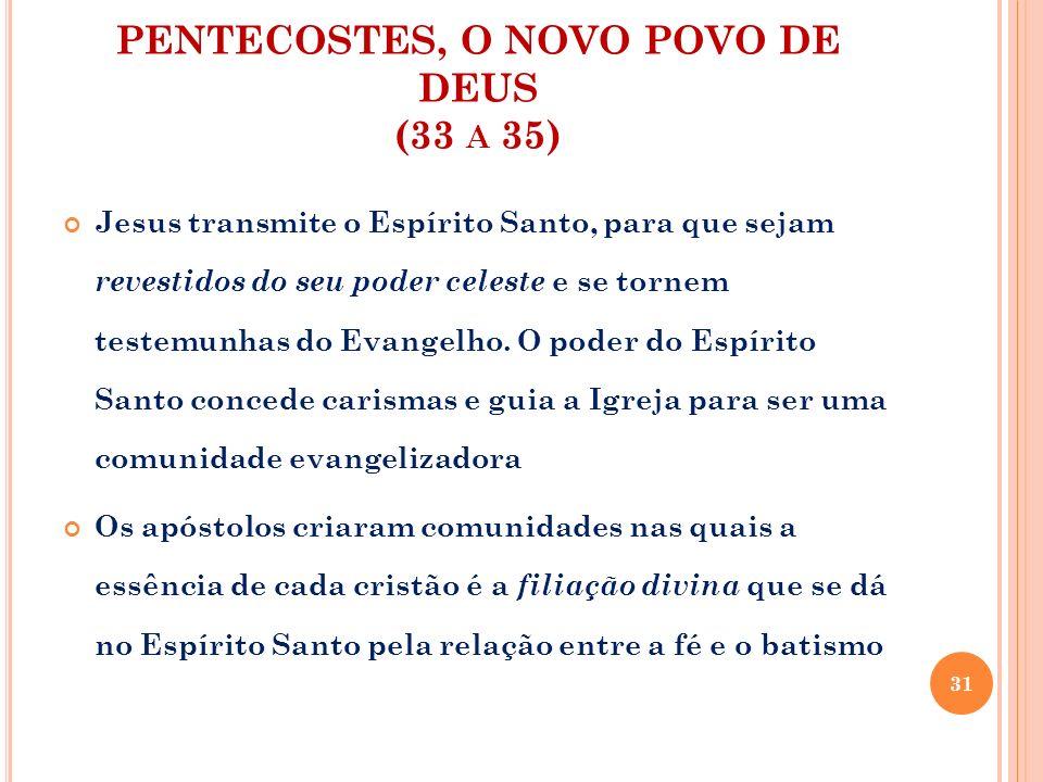 PENTECOSTES, O NOVO POVO DE DEUS (33 a 35)
