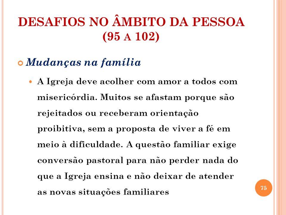 DESAFIOS NO ÂMBITO DA PESSOA (95 a 102)