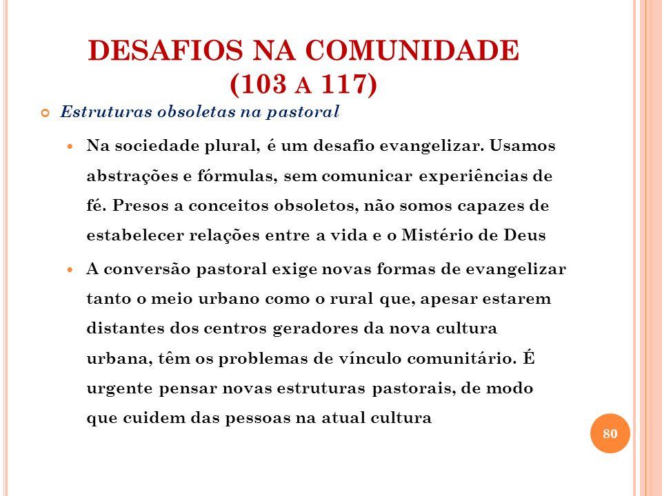 DESAFIOS NA COMUNIDADE (103 a 117)