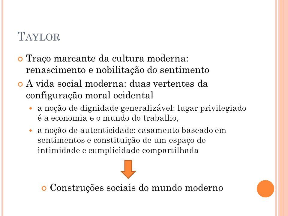 Construções sociais do mundo moderno