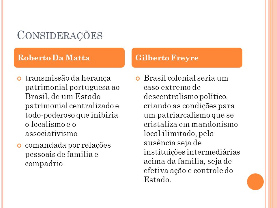 Considerações Roberto Da Matta Gilberto Freyre