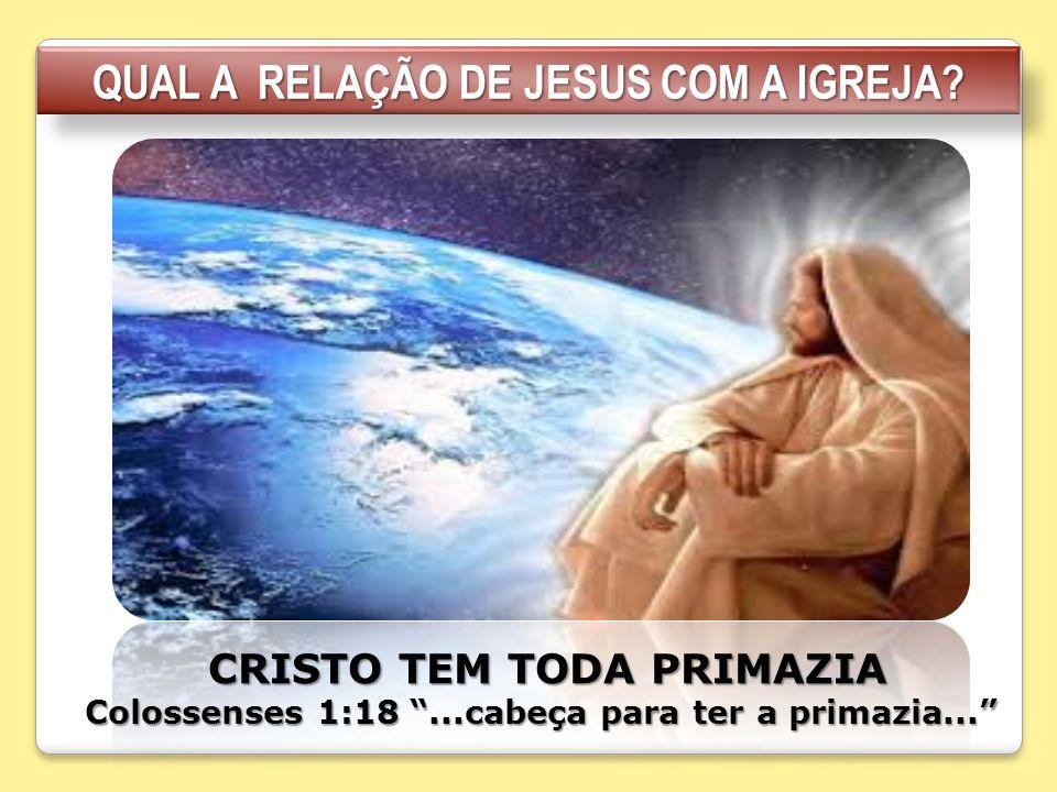 QUAL A RELAÇÃO DE JESUS COM A IGREJA
