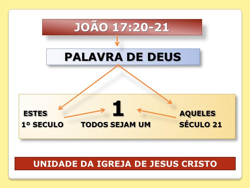 UNIDADE DA IGREJA DE JESUS CRISTO