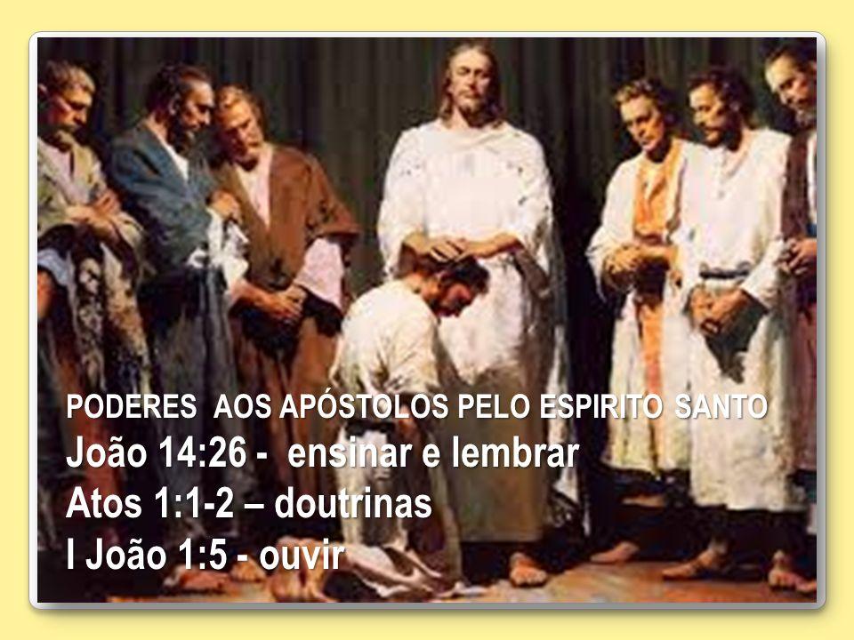 João 14:26 - ensinar e lembrar Atos 1:1-2 – doutrinas