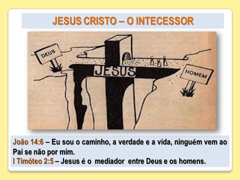 JESUS CRISTO – O INTECESSOR