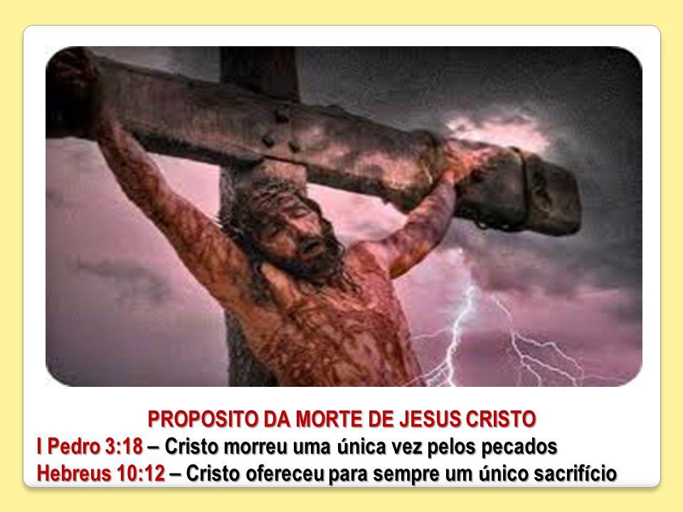 PROPOSITO DA MORTE DE JESUS CRISTO