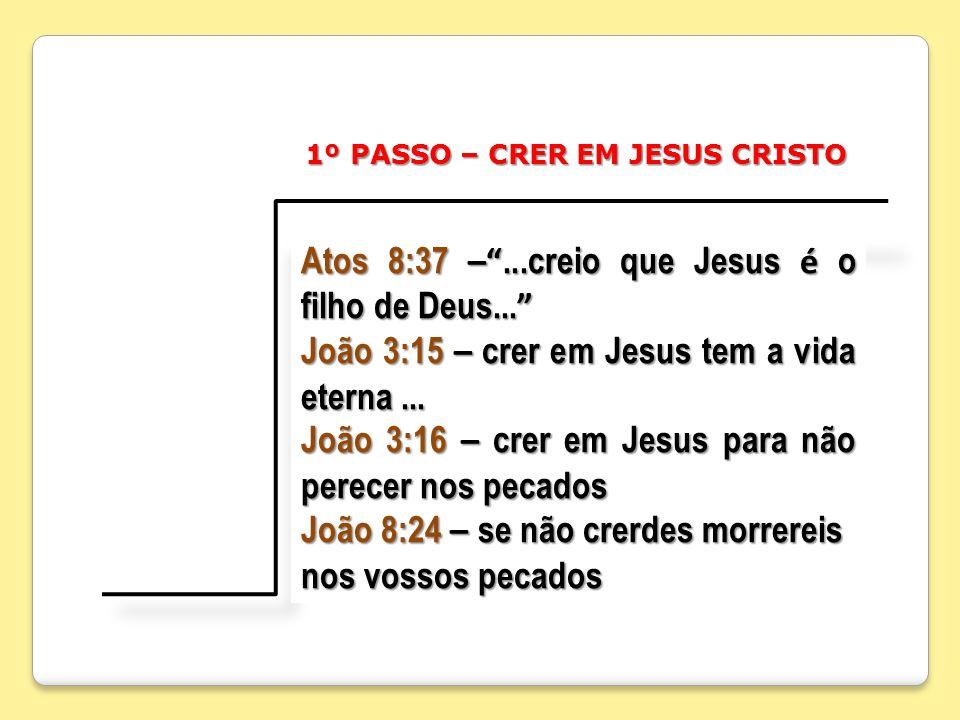 Atos 8:37 – ...creio que Jesus é o filho de Deus...