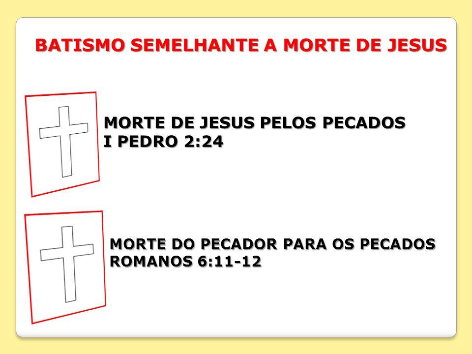 BATISMO SEMELHANTE A MORTE DE JESUS