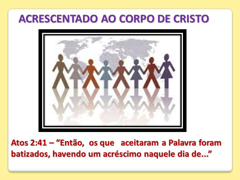 ACRESCENTADO AO CORPO DE CRISTO
