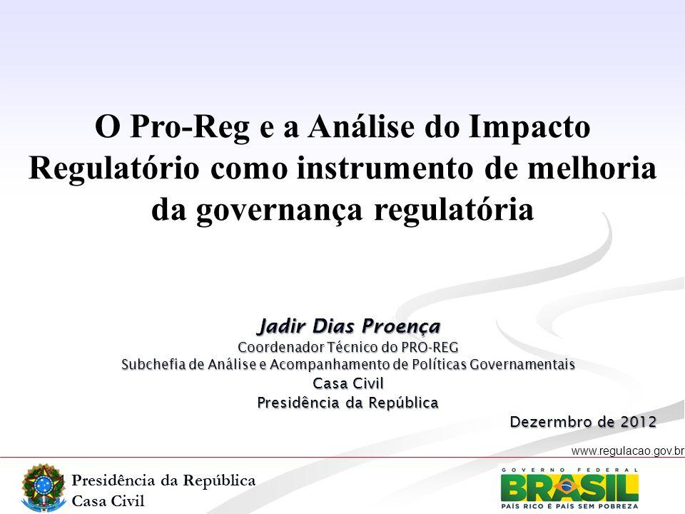 O Pro-Reg e a Análise do Impacto Regulatório como instrumento de melhoria da governança regulatória