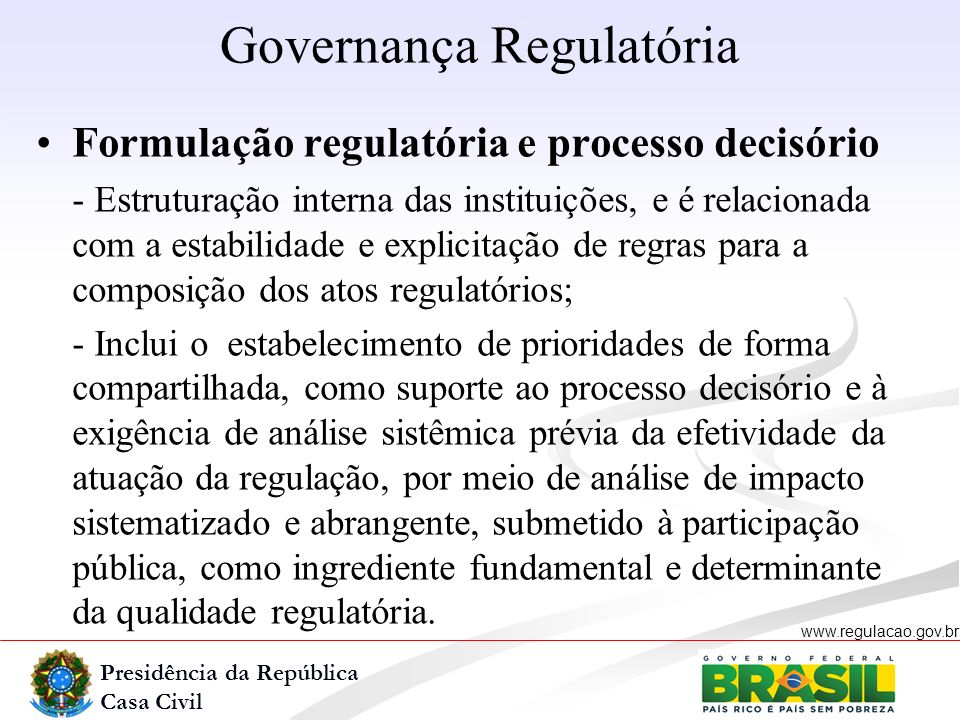Governança Regulatória