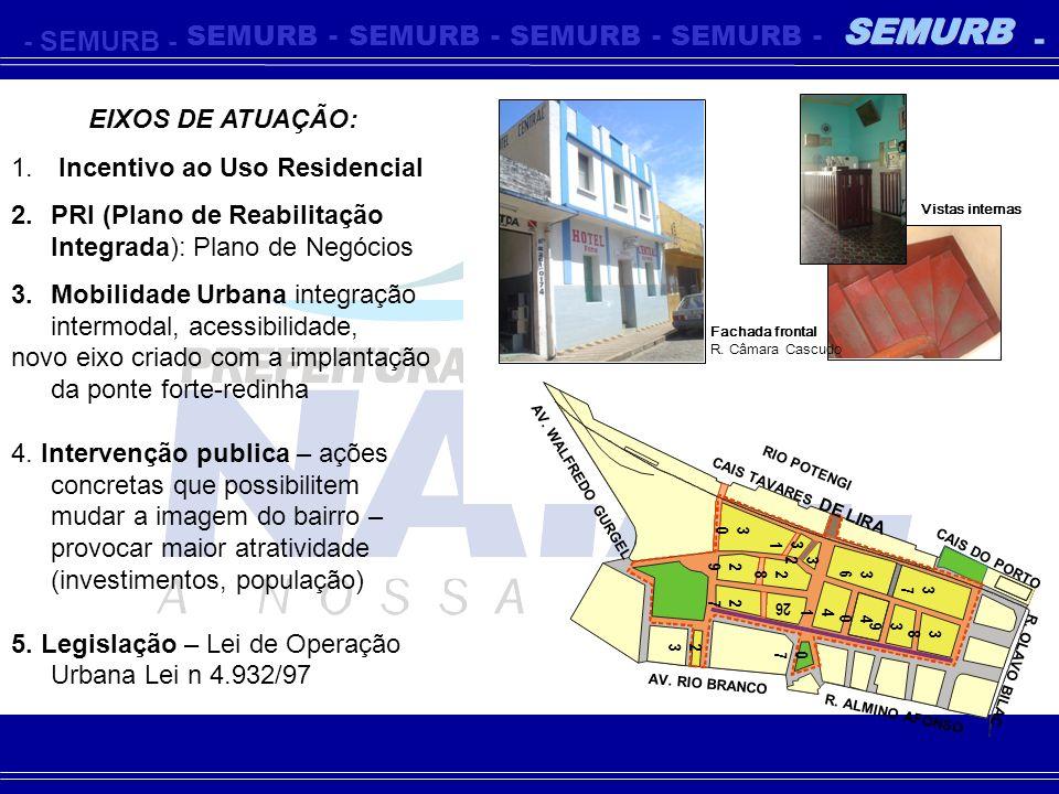 - SEMURB EIXOS DE ATUAÇÃO: Incentivo ao Uso Residencial
