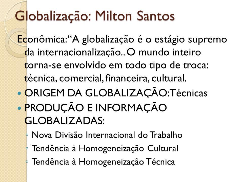 Globalização: Milton Santos