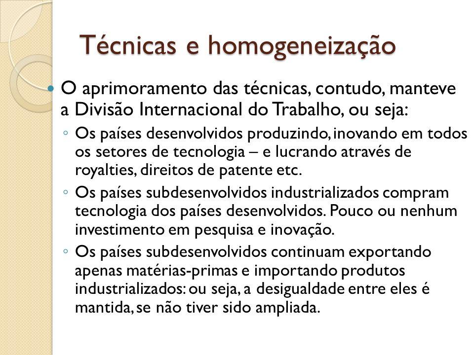 Técnicas e homogeneização