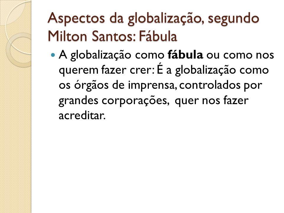 Aspectos da globalização, segundo Milton Santos: Fábula
