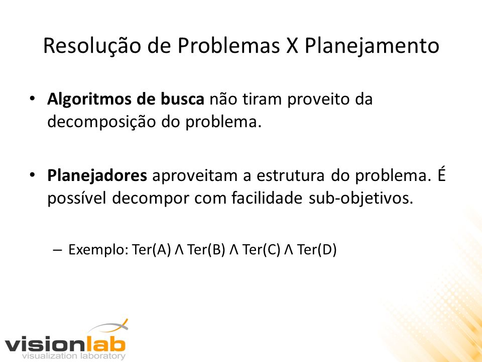 Resolução de Problemas X Planejamento