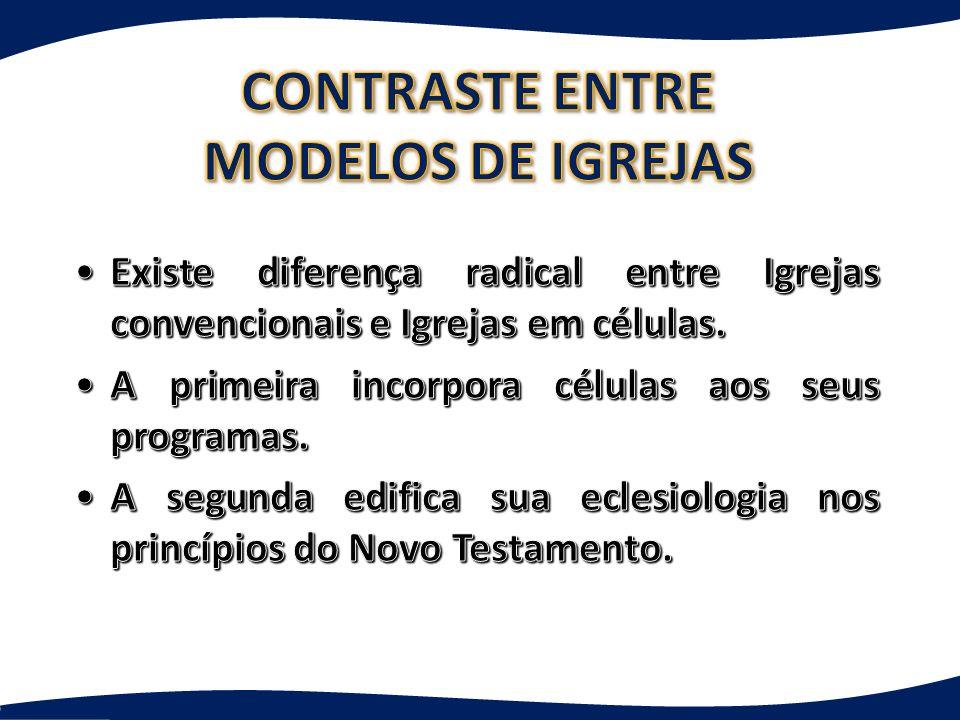 CONTRASTE ENTRE MODELOS DE IGREJAS