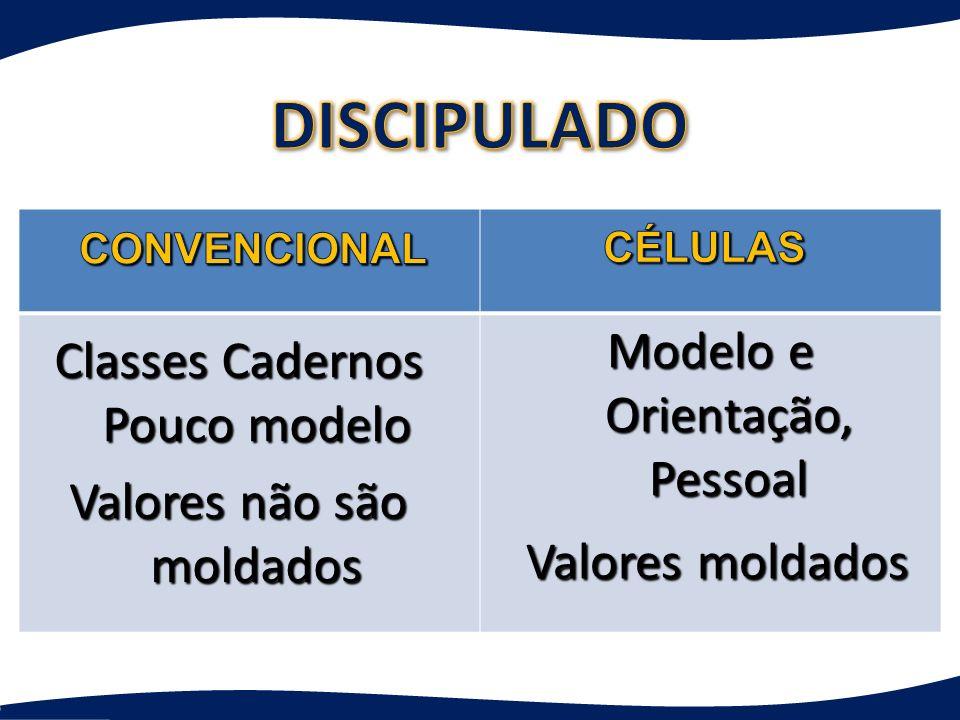 DISCIPULADO Valores moldados Modelo e Orientação, Pessoal