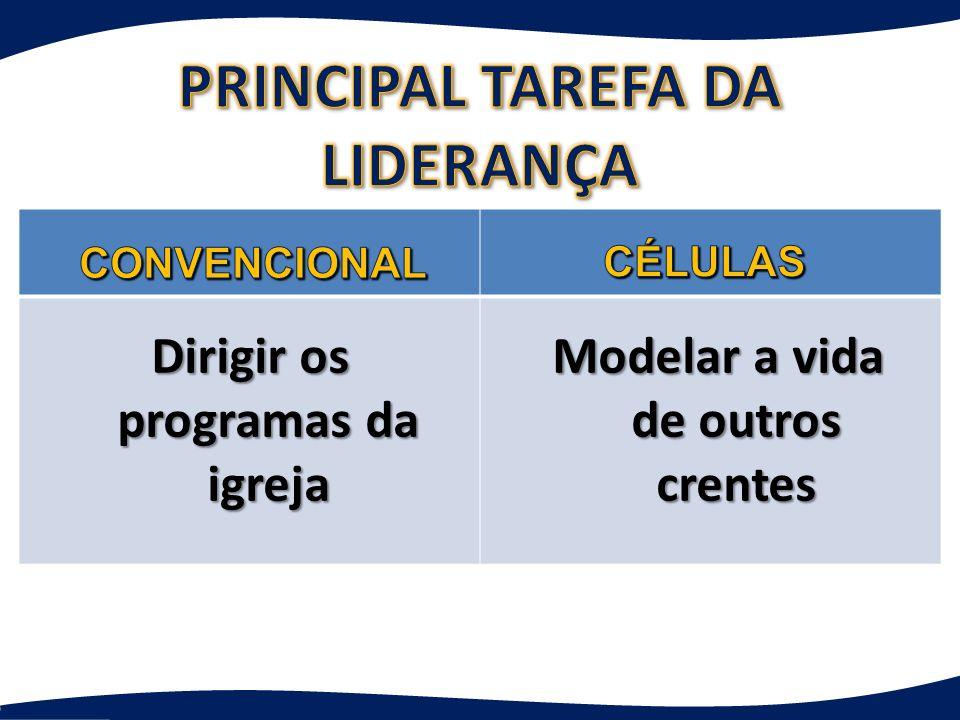 PRINCIPAL TAREFA DA LIDERANÇA