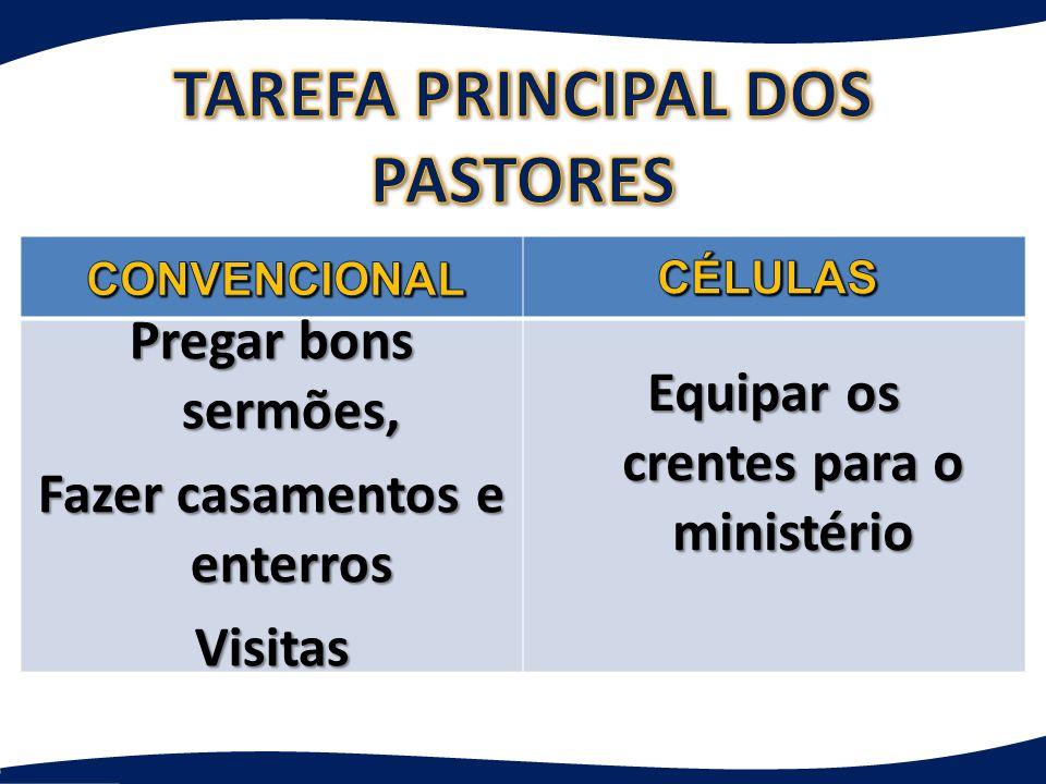 TAREFA PRINCIPAL DOS PASTORES
