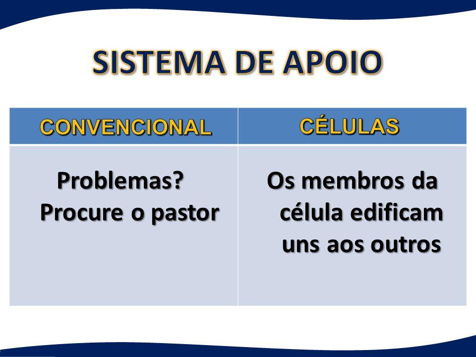 SISTEMA DE APOIO Problemas Procure o pastor