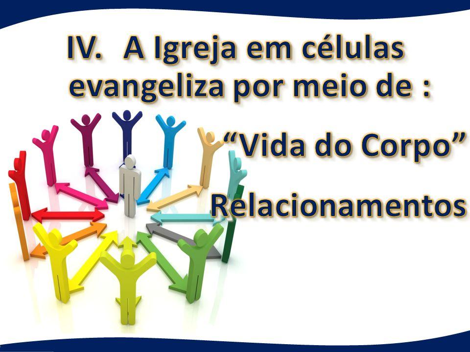 IV. A Igreja em células evangeliza por meio de : Vida do Corpo Relacionamentos