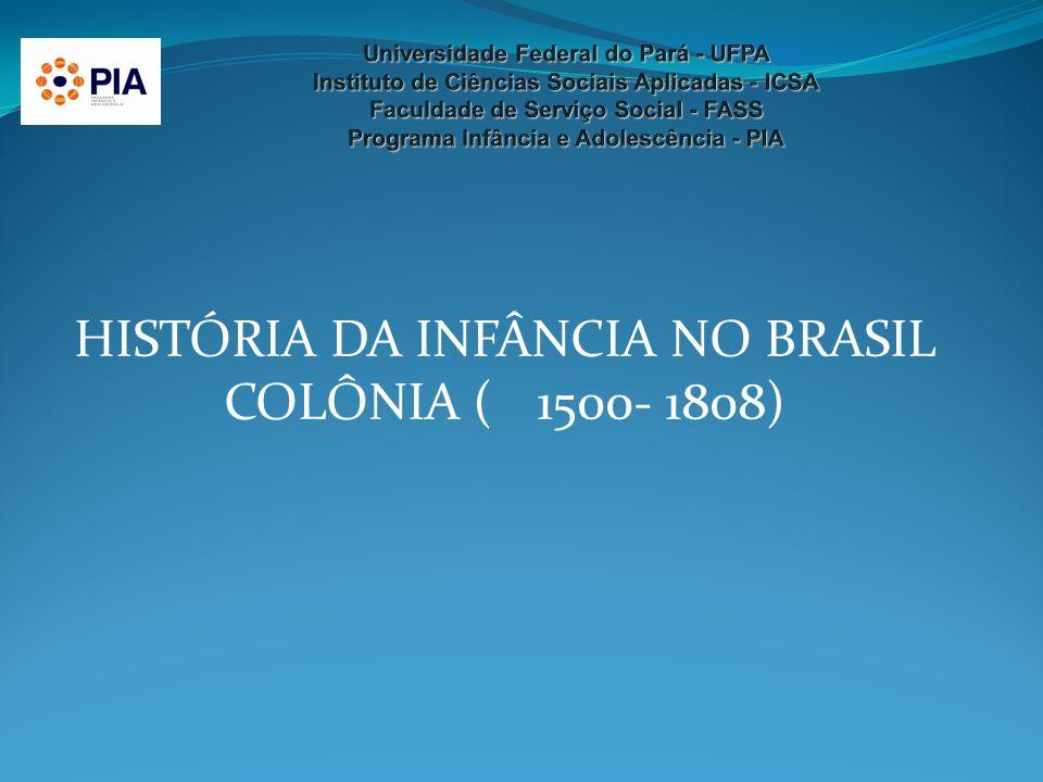HISTÓRIA DA INFÂNCIA NO BRASIL COLÔNIA ( 1500- 1808)