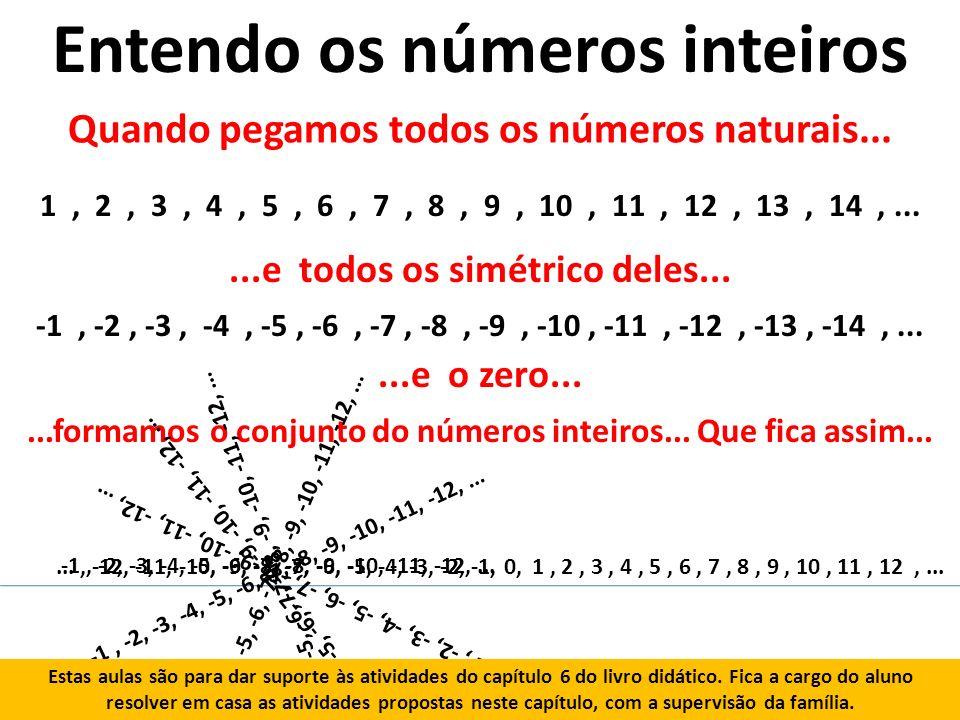 Entendo os números inteiros