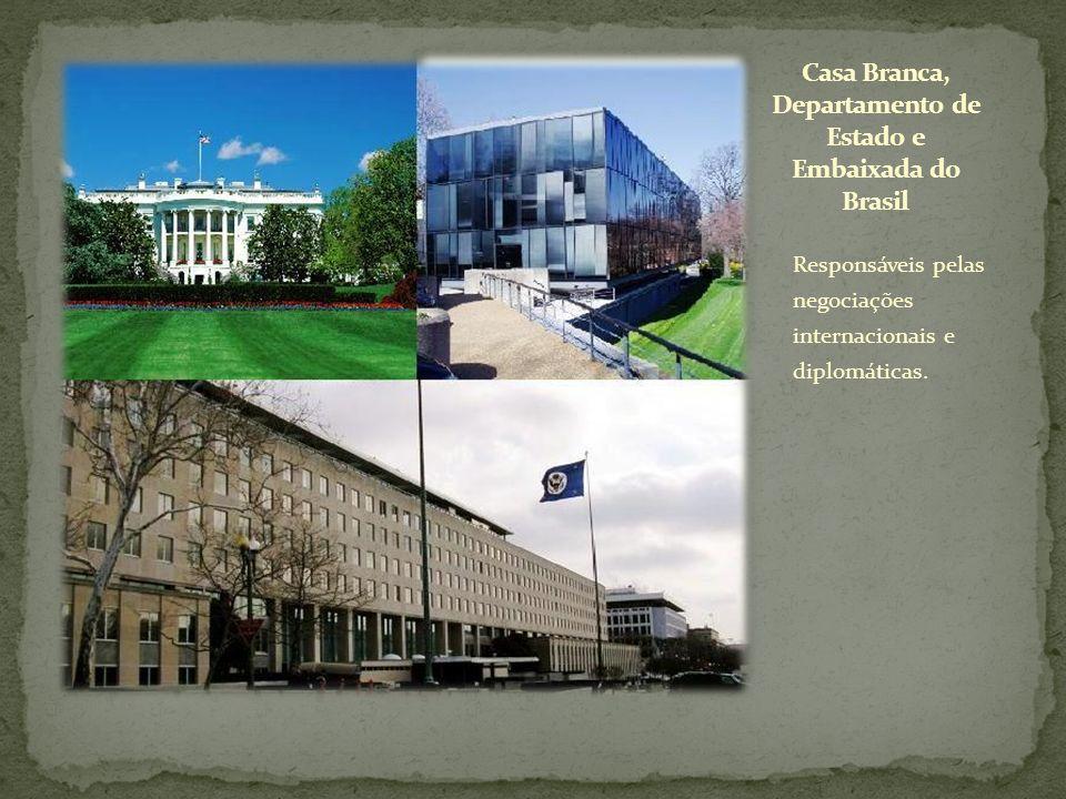Casa Branca, Departamento de Estado e Embaixada do Brasil