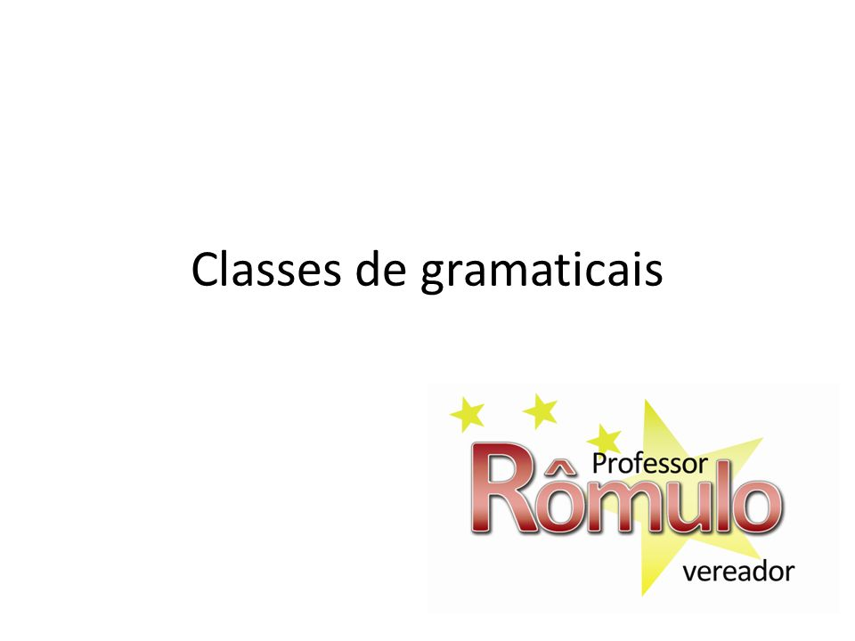 Classes de gramaticais