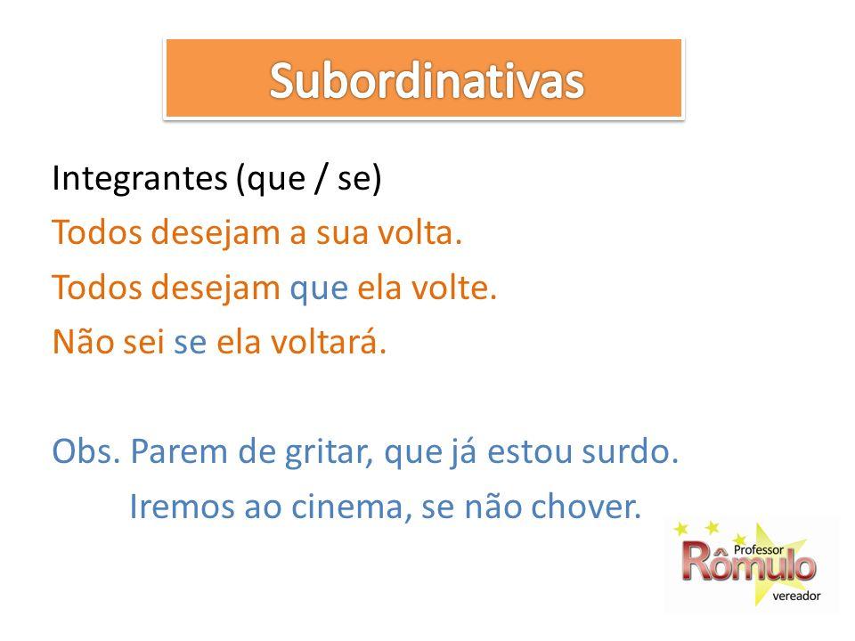 Subordinativas