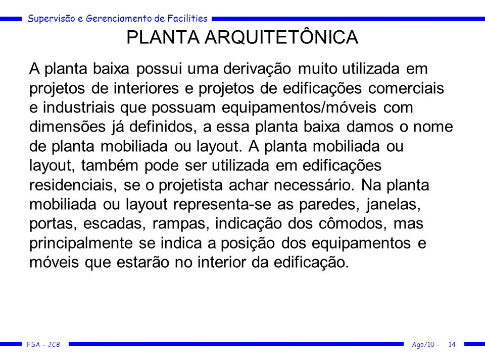 PLANTA ARQUITETÔNICA