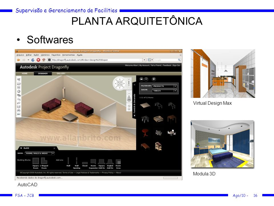 PLANTA ARQUITETÔNICA Softwares Virtual Design Max