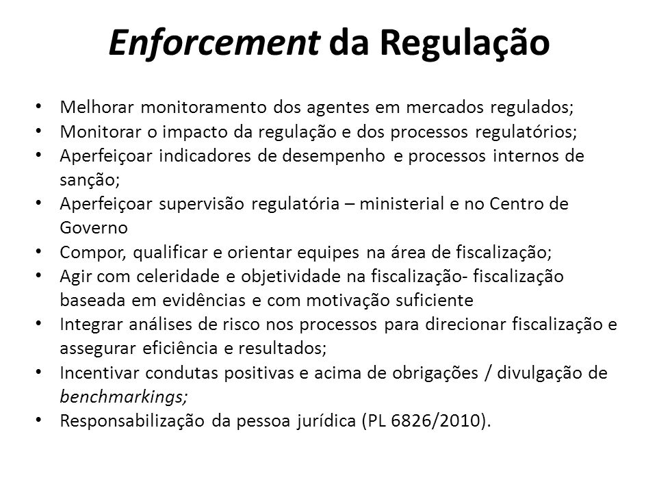 Enforcement da Regulação