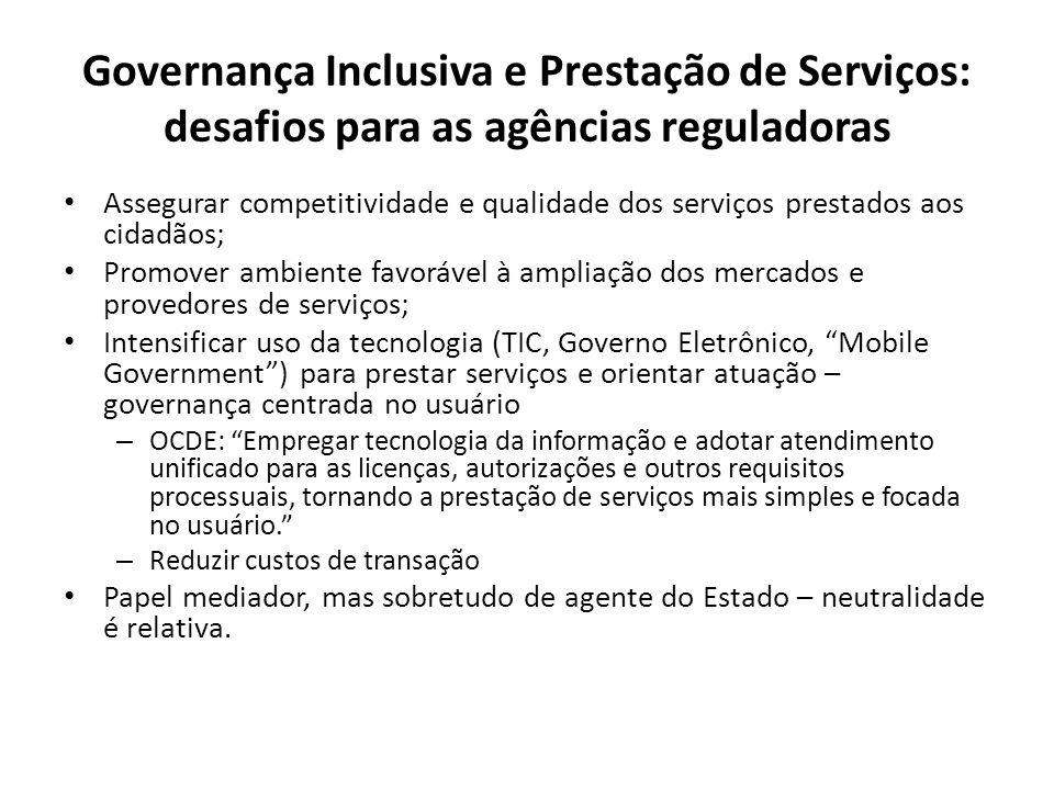 Governança Inclusiva e Prestação de Serviços: desafios para as agências reguladoras
