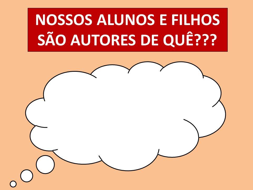 NOSSOS ALUNOS E FILHOS SÃO AUTORES DE QUÊ