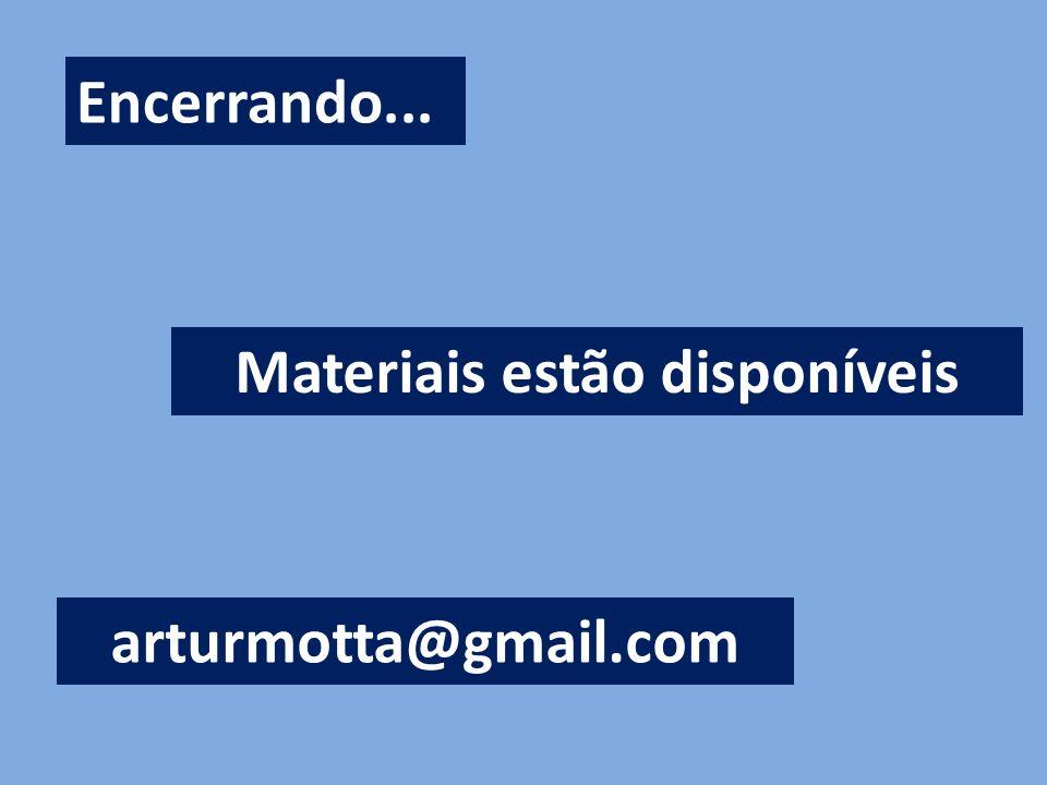 Materiais estão disponíveis