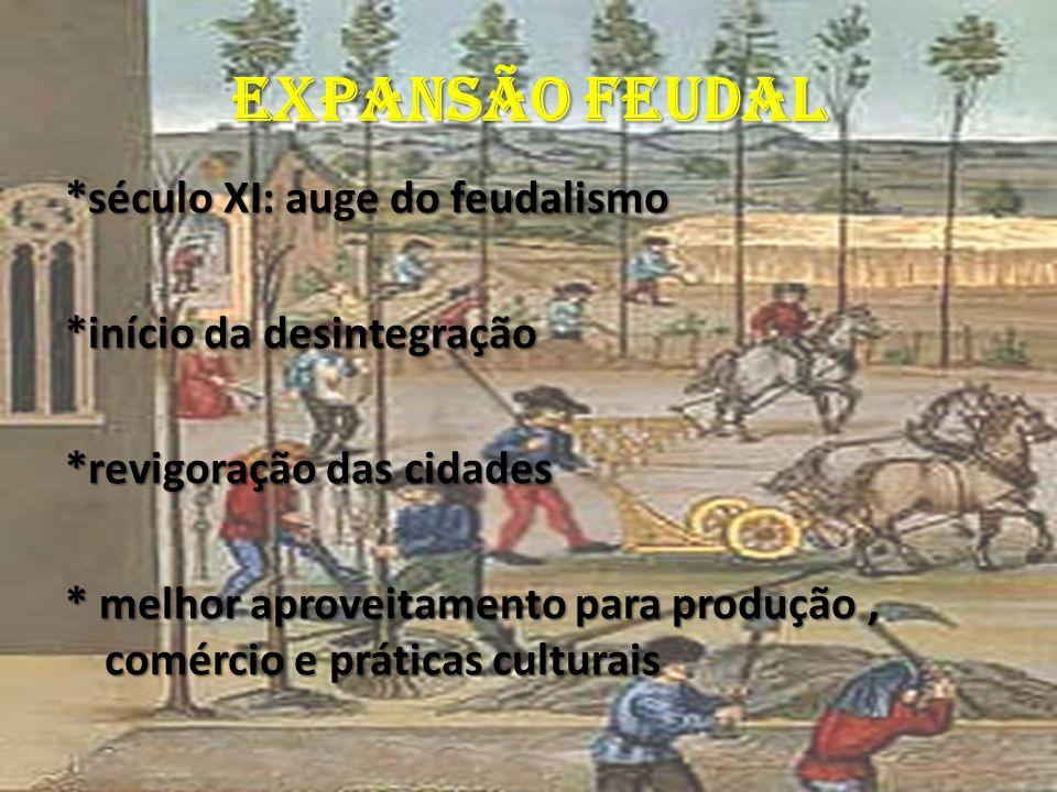 EXPANSÃO FEUDAL *século XI: auge do feudalismo