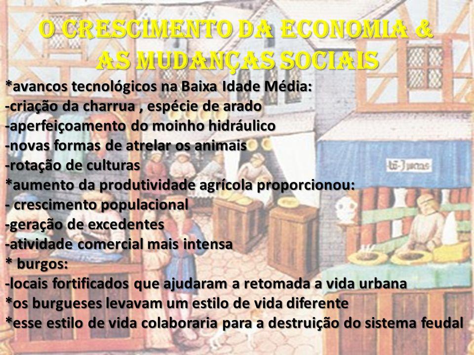 O CRESCIMENTO DA ECONOMIA & AS MUDANÇAS SOCIAIS