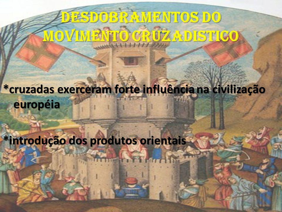 DESDOBRAMENTOS DO MOVIMENTO CRUZADISTICO