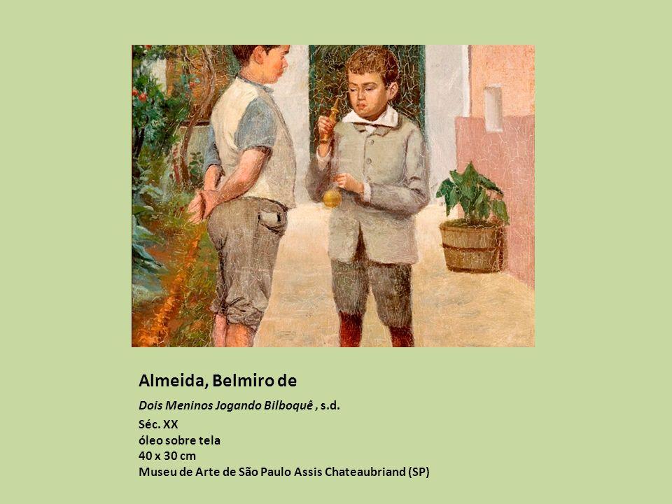 Almeida, Belmiro de Dois Meninos Jogando Bilboquê , s.d.