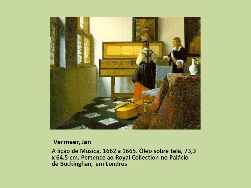 Vermeer, Jan A lição de Música, 1662 a 1665. Óleo sobre tela, 73,3 x 64,5 cm.