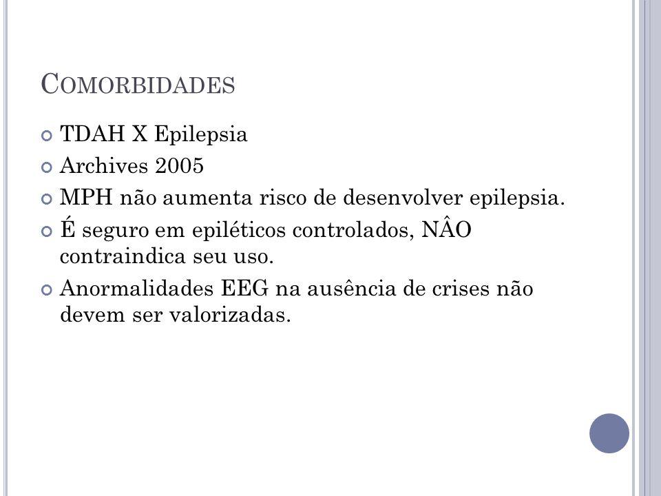 Comorbidades TDAH X Epilepsia Archives 2005